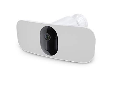 Arlo Pro3 Floodlight WLAN Überwachungskamera   Kabellos, 2K UHD, Innen / Aussen, Bewegungsmelder, Farbnachtsicht, Smart Home, LED Flutlicht, 160° Blickwinkel, 2-Wege-Audio, eingebaute Sirene, FB1001