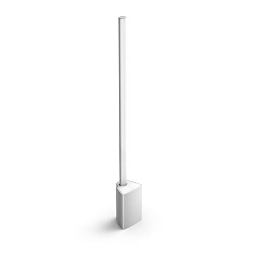 Philips Hue White and Color Ambiance LED Tischleuchte Signe, dimmbar, steuerbar via App, kompatibel mit Amazon Alexa, aluminium