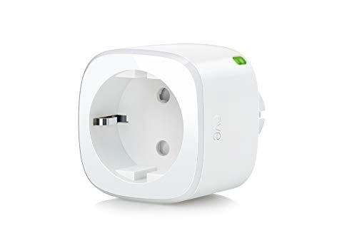 Eve Energy - Smarte Steckdose (deutsche Markenqualität), TÜV zertifiziert, Verbrauchsmessung, integrierte Zeitpläne, schaltet Geräte Ein & Aus, keine Bridge nötig, BLE, Smart Plug (Apple Homekit)