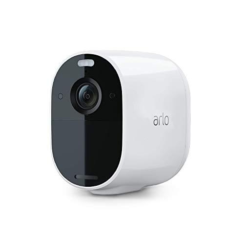 Arlo Essential Spotlight Überwachungskamera | Kabellos, WLAN, 1080p, Farbnachtsicht, 2-Wege Audio, 6 Monate Akkulaufzeit, Bewegungsmelder, direkte WLAN Verbindung, kein Hub erforderlich, VMC2030