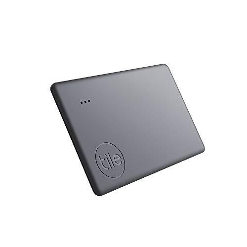 Tile Slim (2020) Bluetooth Schlüsselfinder, 4er Pack, 60m Reichweite, bis zu 3 Jahr2 Batterielaufzeit, inkl. Community Suchfunktion, iOS und Android App, kompatibel mit Alexa und Google Home; schwarz