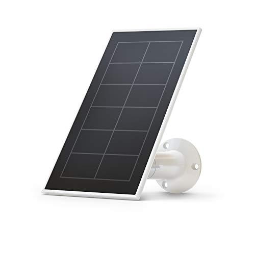 Arlo zertifiziertes Zubehör | VMA3600 Essential Solarpanel Ladegerät, wetterfest, 2,44m Stromkabel, einstellbare Halterung, geeignet für Essential kabellose WLAN Kameras, Weiß