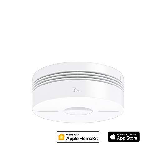 Eve Smoke – Smarter Rauch- & Hitze Dualwarnmelder (Deutsche Markenqualität), Selbstprüfung, funkvernetzt, Mitteilungen, DIN EN 14604 zertifiziert, 10 J. Batterie, keine Bridge nötig (Apple HomeKit)