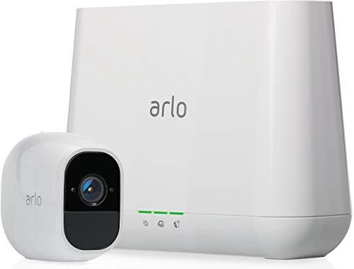 Arlo Pro2 Smart Home 1 HD-Überwachungskamera & Sicherheitsalarm (130 Grad Blickwinkel, kabellos, WLAN, Bewegungsmelder, Innen/Außen, Nachtsicht, wetterfest, 2-Wege Audio) weiß, VMS4130P