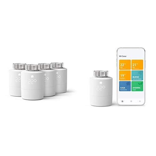tado° Smartes Heizkörper-Thermostat Starter Kit V3+ und Smartes Heizkörper-Thermostat - Quattro Pack, Zusatzprodukte für Einzelraumsteuerung - Intelligente Heizungssteuerung
