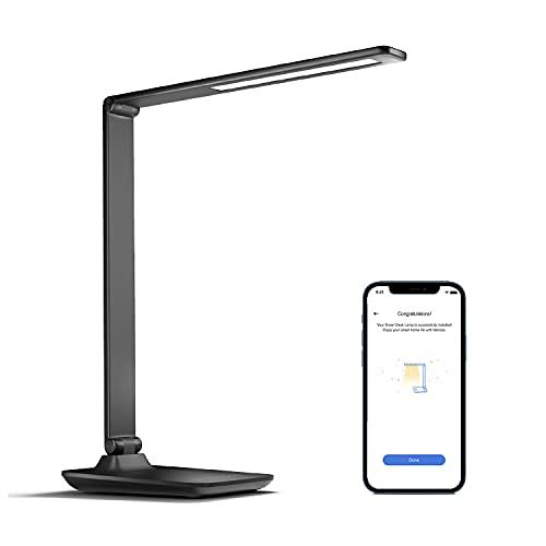 Smart Schreibtischlampe LED funktioniert mit Apple HomeKit, meross WLAN Tischlampe 3 Farbe und 4 Helligkeitsstufen, Dimmbar Tischleuchte 10W mit Touchbedienung Memory kompatibel mit Alexa, Googel Home