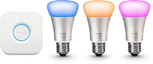 Philips Hue LED Lampe 3er Starter Set inkl. Bridge[E27-