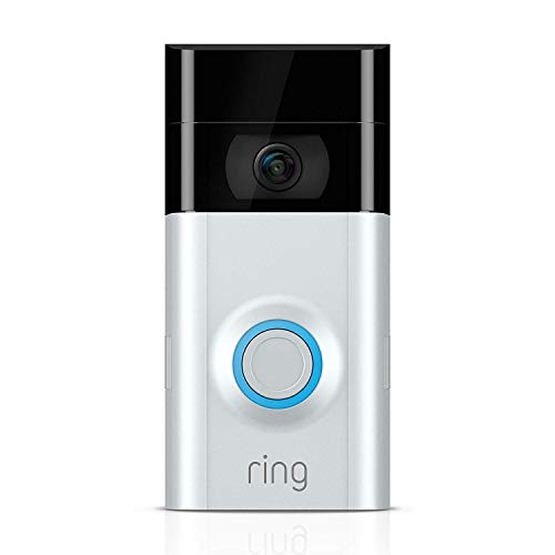 Ring Video Doorbell 2 | Video Türklingel 2 1080p HD-Video, Gegensprechfunktion, Bewegungsmelder, WLAN, Satin Nickel