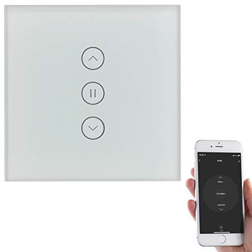 Luminea Home Control Rolladensteuerung: Rollladen-Touch-Unterputz-Steuerung mit WLAN, App und Sprachsteuerung (Rolladensteuerung WLAN)