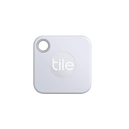 Tile Mate (2020) Bluetooth Schlüsselfinder, 1er Pack, 60m Reichweite, 1 Jahr Batterielaufzeit, inkl. Community Suchfunktion, iOS und Android App, kompatibel mit Alexa und Google Home; weiß