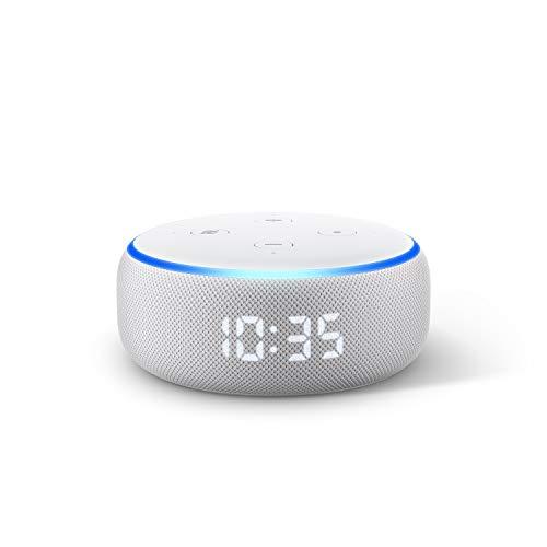 Der neue Echo Dot (3.Gen.) – smarter Lautsprecher mit Uhr und Alexa, Sandstein Stoff