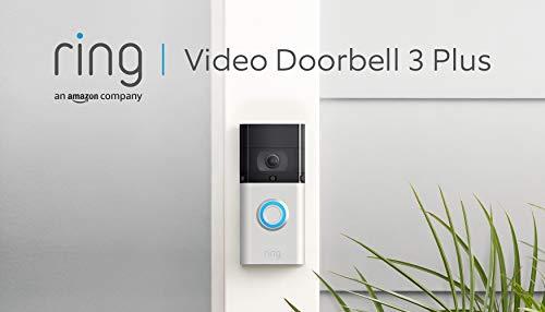 Ring Video Doorbell 3 Plus von Amazon | HD-Video (1080p), verbesserte Bewegungserfassung, 4-Sekunden-Vorschau | Mit 30-tägigem Testzeitraum für Ring Protect