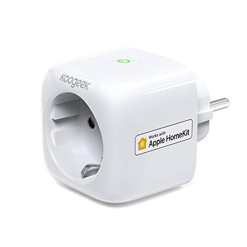 Smart Plug Koogeek Intelligente Wifi Steckdose Kompatibel mit Alexa/Echo mit Apple HomeKit mit Google Assistant mit Siri Remote Control auf 2.4 GHz Netzwerk