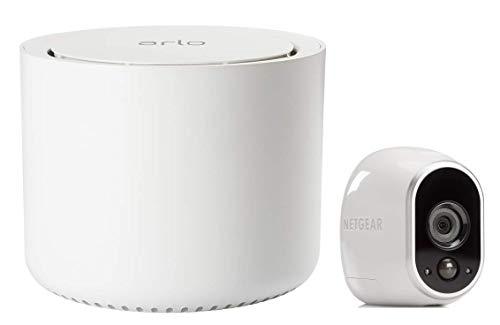 Arlo HD Smart Home 1 HD-Überwachungskamera und Sicherheitssystem (100% kabellos, Innen/Außen, WLAN, Bewegungsmelder, Nachtsicht) weiß, VMS3130