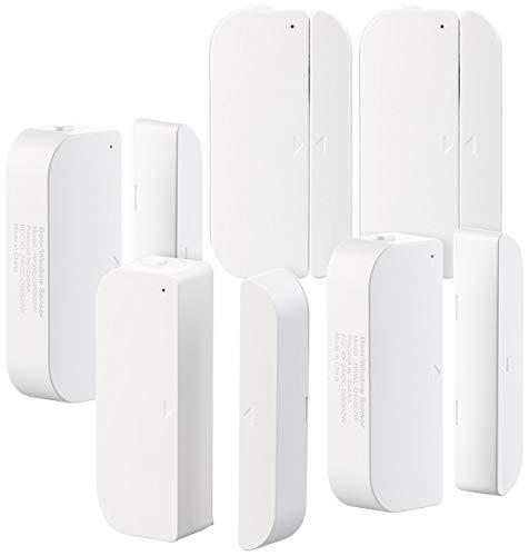 Luminea Fenstersensor WLAN: 5er-Set WiFi Tür & Fensteralarm, Alexa und Google Assistant komp. (WiFi Fensterkontakt)