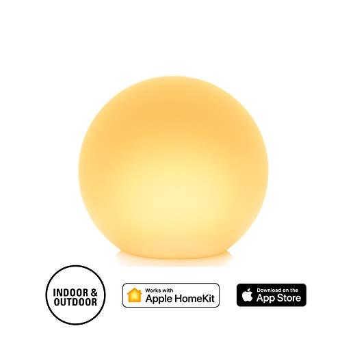 Eve Flare - Portable smarte LED-Leuchte (Deutsche Markenqualität), wasserbeständig, Kugelform, kabelloses Laden, weißes & farbiges Licht, Tragegriff, keine Bridge nötig (Apple HomeKit)