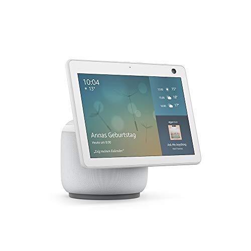 Der neue Echo Show 10 (3. Generation) | Hochauflösendes Smart Display mit Bewegungsfunktion und Alexa, Weiß