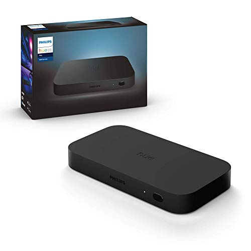 Philips Hue Play HDMI Sync Box, Synchronisation mit Heimkino, bis zu 4 HDMI-Geräte, 7 W, 240 V, schwarz