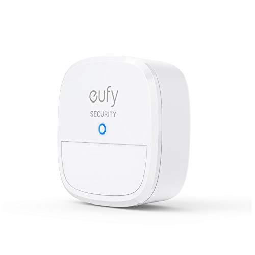eufy Security Bewegungssensor, Sicherheitssystem mit Alarm, 100° Blickfeld, 9m Reichweite, 2 Jahre Akku, Einstellbare Empfindlichkeit, Steuert HomeBase Überwachungsgeräte, HomeBase notwendig