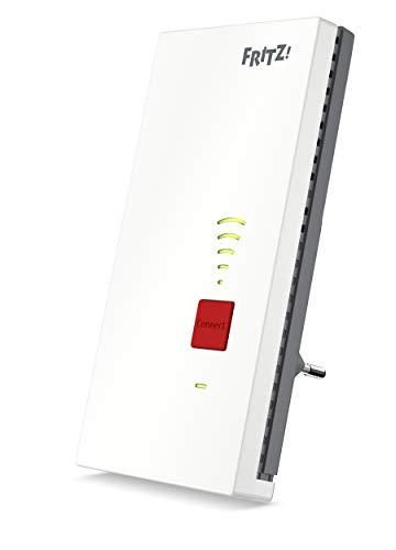 AVM FRITZ!WLAN Mesh Repeater 2400 (Dual-WLAN AC + N bis zu 1.733 MBit/s (5GHz) + 600 MBit/s(2,4 GHz), 1x Gigabit-LAN, deutschsprachige Version)