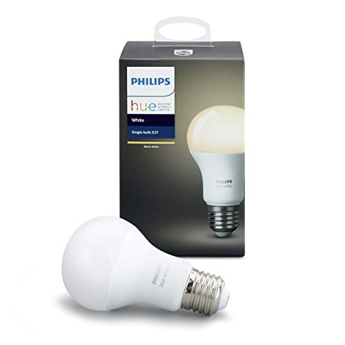 Philips Hue White E27 LED Lampe, 3-er Pack, dimmbar, warmweißes Licht, steuerbar via App, kompatibel mit Amazon Alexa (Echo, Echo Dot)