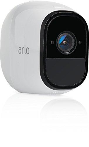 Arlo Pro Smart Home Pro Zusatz-Überwachungskamera und Sicherheitsalarm (100% kabellos, 720p, 1 HD, 130 Grad Blickwinkel, WLAN, Bewegungsmelder, Nachtsicht, Innen/Außen) weiß, VMC4030