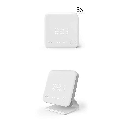 Tado Funk-Temperatursensor - Zusatzprodukt für Smarte Heizkörper-Thermostate + Standfuß – Zusatzprodukt für tado° Smartes Thermostat (Funk), Funk-Temperatursensor und Smarte Klimaanlagen-Steuerung