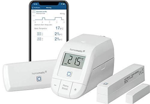 Homematic IP Smart Home Starter Set Raumklima – WLAN, intelligente Heizungssteuerung per App und Amazon Alexa,155694A0