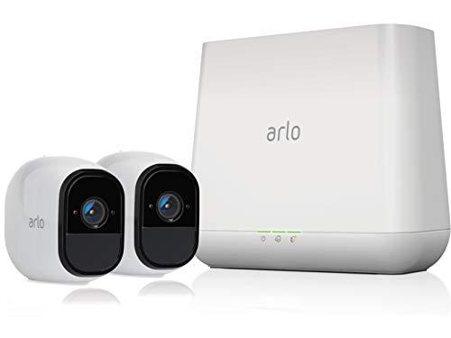 Arlo Pro Smart Home 2 HD- Pro Überwachungskameras und Sicherheitsalarm (100% kabellos, 720p HD, 130 Grad Blickwinkel, WLAN, Bewegungsmelder, Nachtsicht, Innen/Außen, 100 dB Sirene) weiß, VMS4230