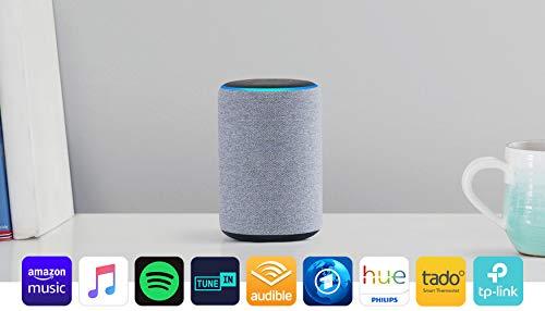 Echo Plus (2. Gen.), mit Premiumklang und integriertem Smart Home-Hub, Hellgrau Stoff*