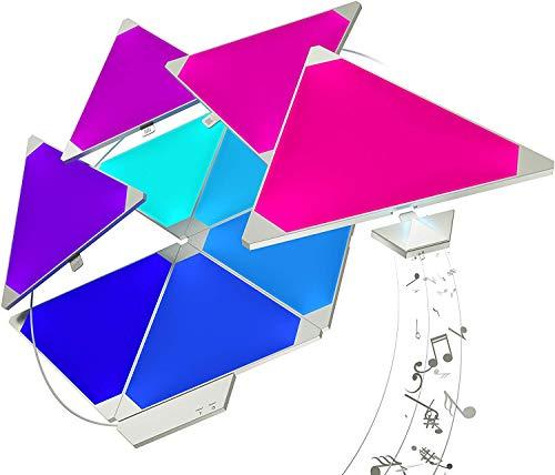 nanoleaf Light Panels Rhythm Starter Kit - 15x Modulare Smarte LED mit Sound Modul, App Steuerung [16 Millionen Farben, Alexa kompatibel, Plug and Play für iOS (Apple Home Kit kompatibel) & Android