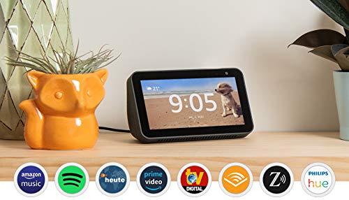 Echo Show 5, Zertifiziert und generalüberholt, kompaktes Smart Display mit Alexa, Schwarz