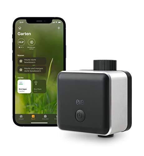 Eve Aqua - Smarte Bewässerungssteuerung per Apple Home App oder Siri, automatisch bewässern mit Zeitplänen, einfache Bedienung, Fernzugriff, keine Bridge, Bluetooth, Thread, HomeKit