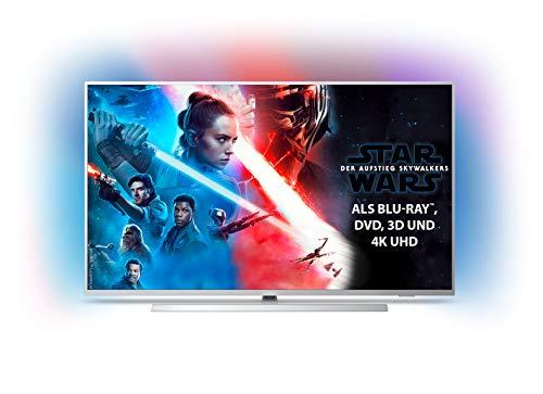 Philips Ambilight 55PUS7304/12 Fernseher 139 cm (55 Zoll) Smart TV (4K, LED TV, HDR 10+, Android TV, Google Assistant, Alexa kompatibel, Dolby Atmos) Hellsilber [Modelljahr 2019]