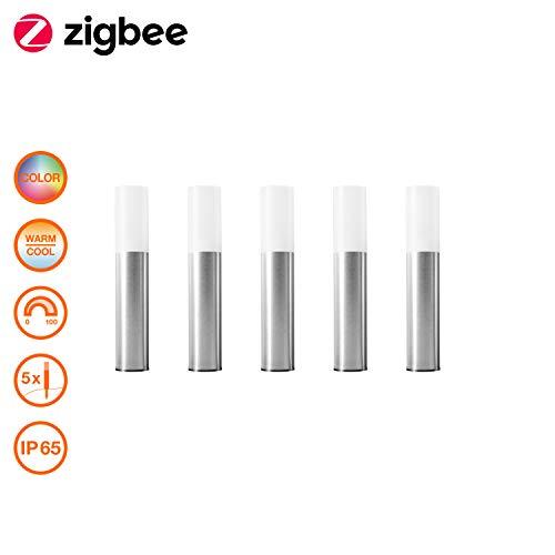 OSRAM Smart+ LED Gartenleuchte, ZigBee, warmweiß bis tageslicht, dimmbar, RGB Farbwechsel, 5 Spots, Direkt kompatibel mit Echo Plus und Echo Show (2. Gen.), Kompatibel mit Philips Hue Bridge