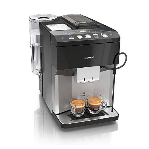 Siemens EQ.500 classic Kaffeevollautomat TP507DX4, einfache Bedienung, alexa fähig, zwei Tassen gleichzeitig, 1.500 Watt, grau