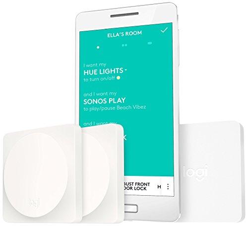 Logitech Pop Schalter (geeignet für Hausautomatisierung Starter Pack, Smart Home Geräte in allen Räumen per Tastendruck steuern)