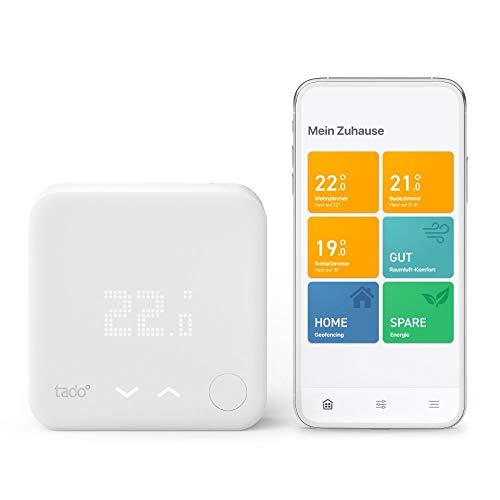 tado° Smartes Thermostat (Verkabelt) Starter Kit V3+ - Intelligente Heizungssteuerung, Einfach selbst zu installieren, Designed in Germany