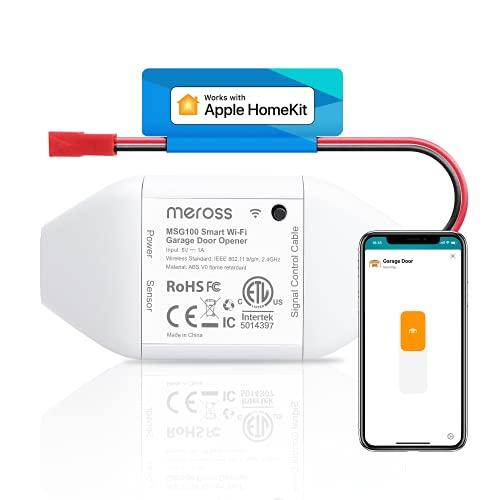 Meross Smart WLAN Garagentoröffner funktioniert mit Apple HomeKit, APP-Steuerung, Kompatibel mit Alexa, Google Assistant und SmartThings, kein Hub erforderlich