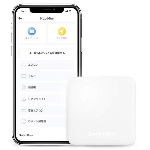 SwitchBot Hub Mini Smart Fernbedienung - IR-Sendersystem, Verbindung zu WLAN, Klimaanlagensteuerung, kompatibel mit Alexa, Google Home, Siri, IFTTT