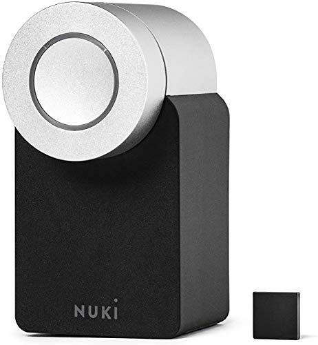 Nuki Smart Lock 2.0 - Apple HomeKit - Amazon Alexa - Google home - IFTTT - Elektronisches Türschloss mit Türsensor - Automatischer Türöffner mit Bluetooth, WLAN - für iPhone und Android - Smart Home