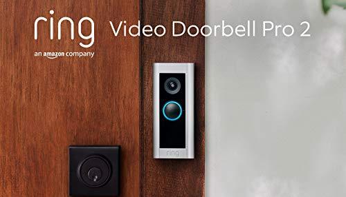 Wir stellen vor: Ring Video Doorbell Pro 2 von Amazon, Ganzkörper-Videoaufnahmen in HD, 3D-Bewegungserfassung, festverdrahtete Installation, Mit 30-tägigem Testzeitraum für das Ring Protect-Abonnement