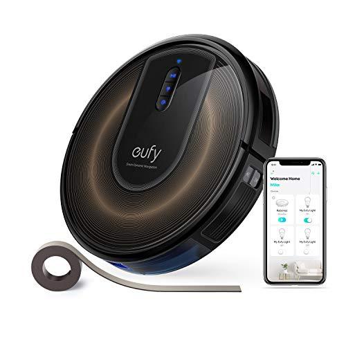 eufy RoboVac G30 Edge von Anker, Saugroboter mit Smart Dynamic Navigation 2.0, Roboterstaubsauger mit 2000Pa Saugkraft, WLAN-Konnektivität, Mit Abgrenzungsstreifen, Ideal für Teppiche und Hartböden