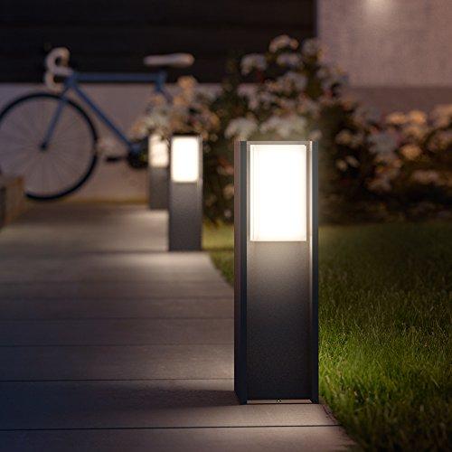 Philips Hue LED Sockelleuchte Turaco Anthrazit inkl. Hue White | Hue-Wegeleuchte, Gartenleuchte