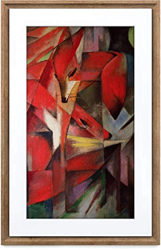 MEURAL Canvas II MC321HW Smart Art Digitale HD-Leinwand 41 x 61 cm (Dunkler Holzrahmen, 21,5 Zoll, Gemälde und Fotografien werden in naturgetreuen Details wiedergegegeben, WLAN mit App, von Netgear)