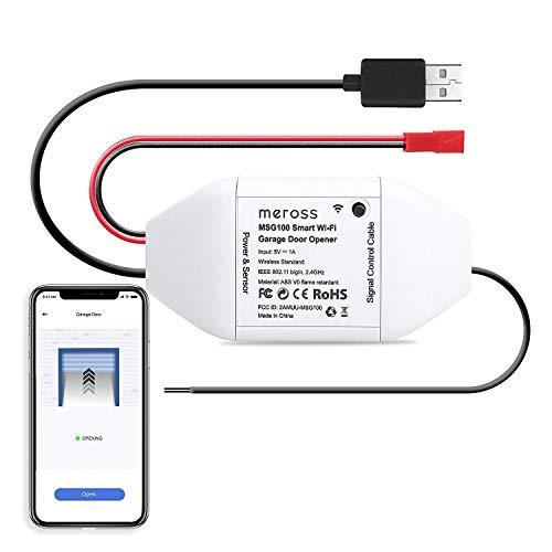 meross Smart WLAN Garagentoröffner, APP-Steuerung, Kompatibel mit Alexa, Google Assistant und SmartThings, kein Hub erforderlich