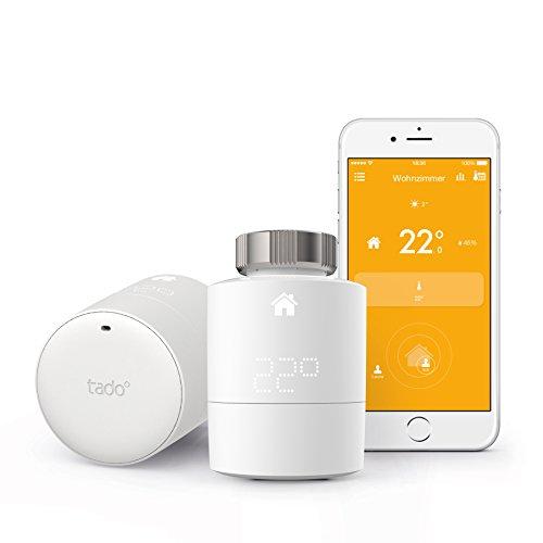 tado° Smartes Heizkörper-Thermostat Starter Kit V3 - Intelligente Heizungssteuerung, kompatibel mit Amazon Alexa, Apple HomeKit, Google Assistant, IFTTT