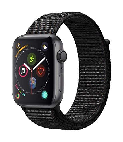Apple Watch Series 4 (GPS, 44mm) Aluminiumgehäuse Space Grau - Sportarmband Schwarz