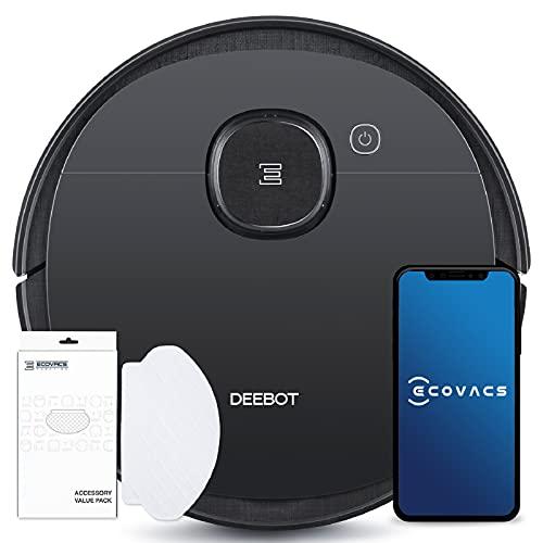 ECOVACS DEEBOT OZMO 950 Care, Saugroboter mit Wischfunktion + 50 Reinigungstücher: Staubsauger Roboter mit intelligenter Navigation, Google Home, Alexa, App, schwarz (exklusiv bei Amazon)