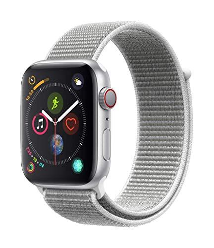 Apple Watch Series 4 GPS + Cellular, 44mm Aluminiumgehäuse, Silber, mit Sport Loop, Muschel